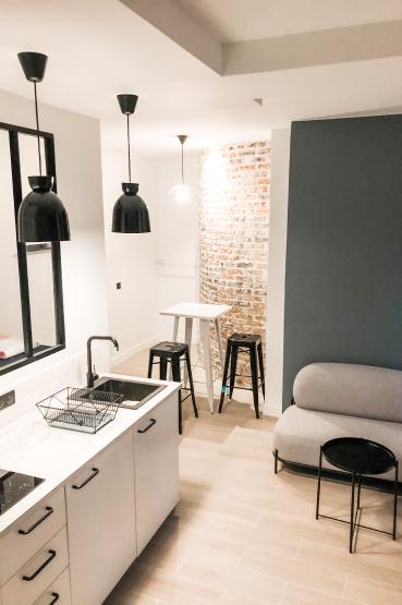 cuisine kitchenette renovee renov&rent